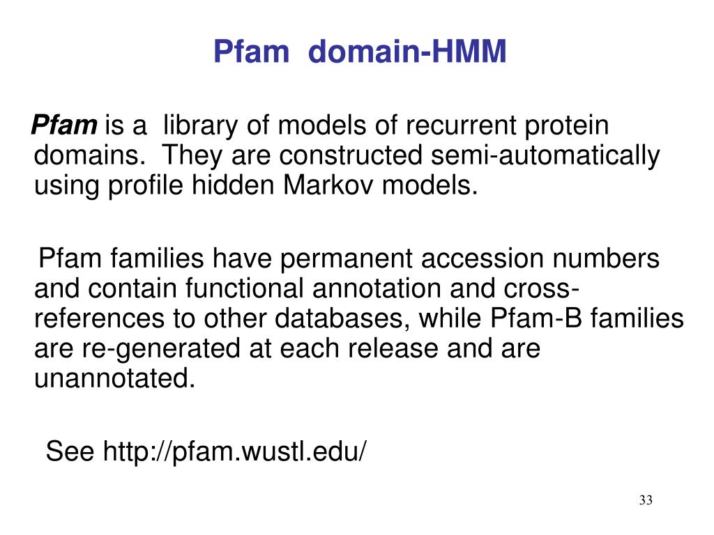 Pfam  domain-HMM