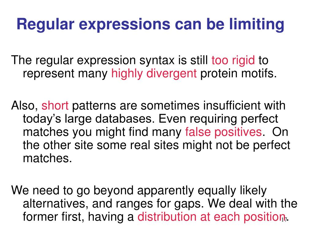 Regular expressions can be limiting