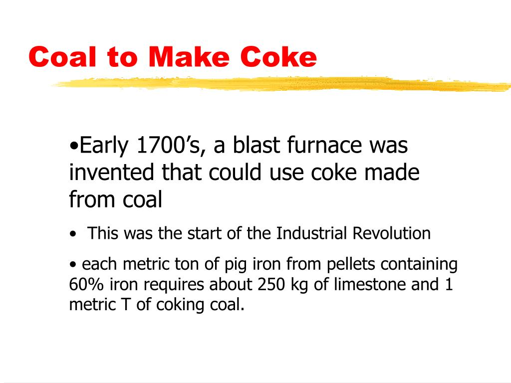 Coal to Make Coke
