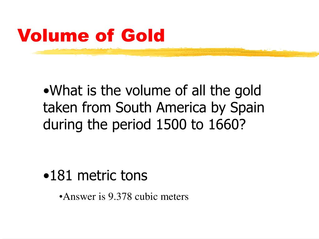 Volume of Gold