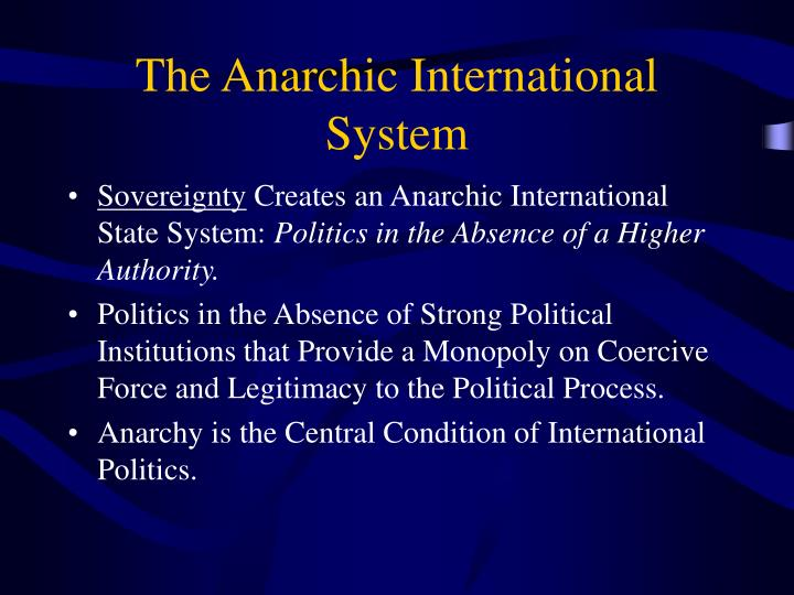 The Anarchic International System