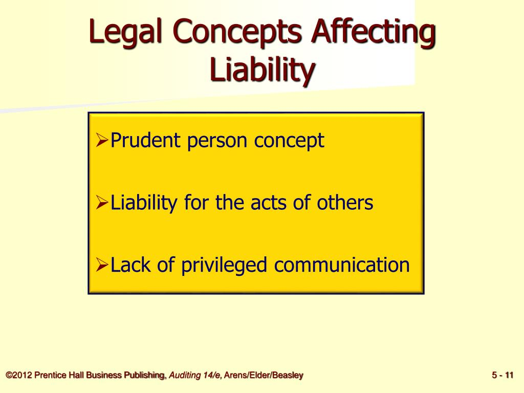 Legal Concepts Affecting Liability