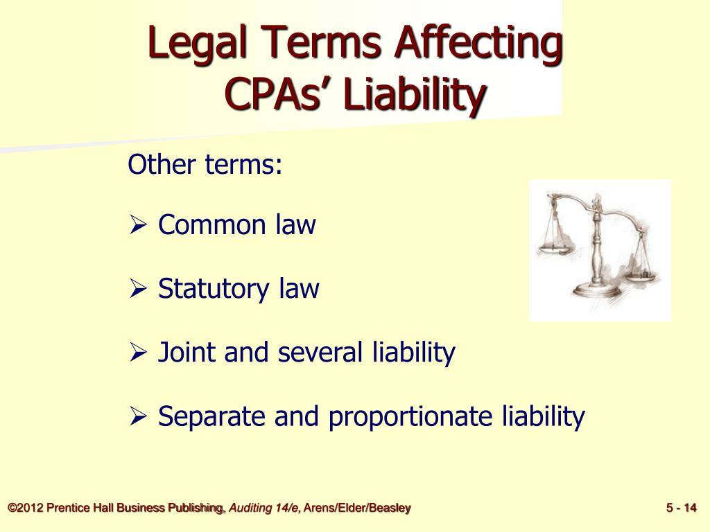 Legal Terms Affecting