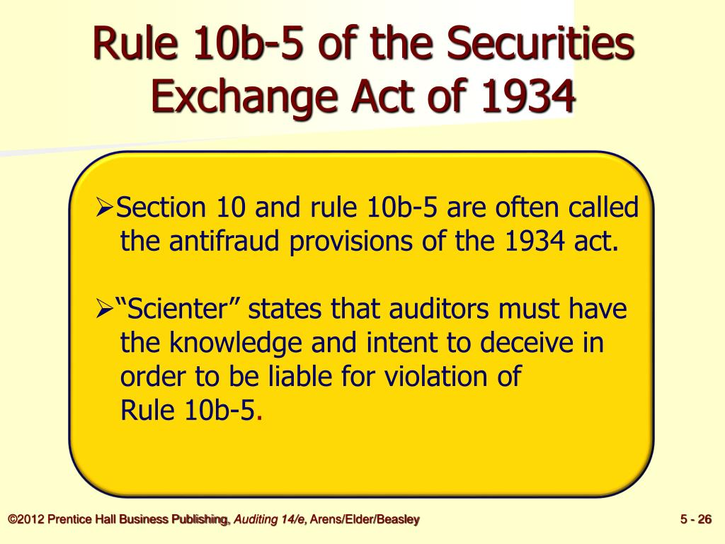 Rule 10b-5 of the Securities Exchange Act of 1934