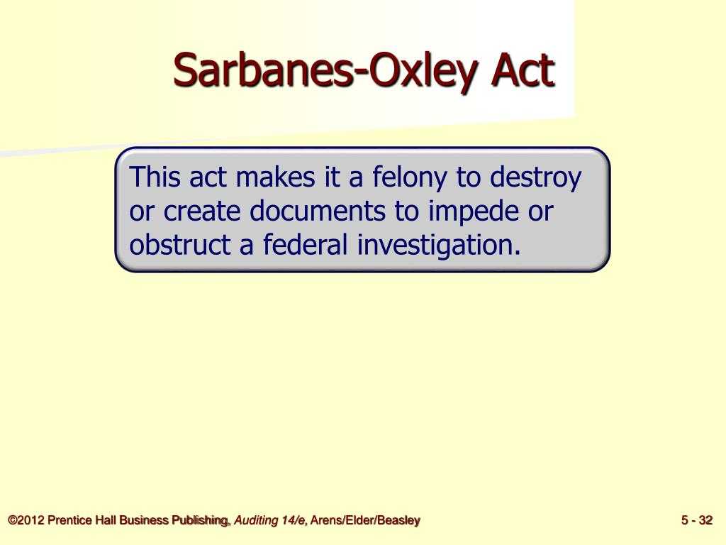 Sarbanes-Oxley Act