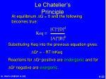 le chatelier s principle22