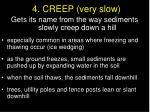 4 creep very slow