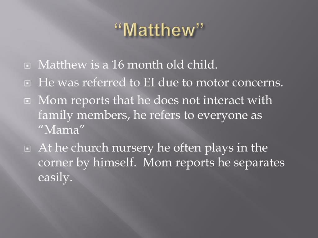 """Matthew"""