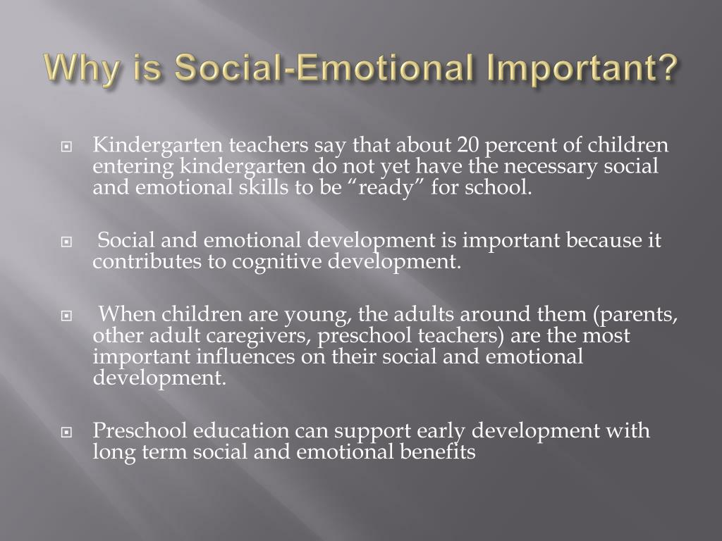 Why is Social-Emotional Important?