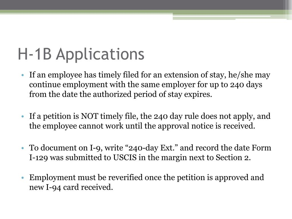 H-1B Applications