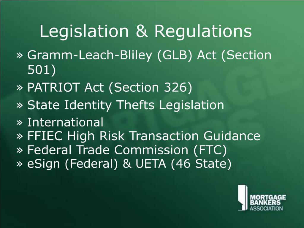 Legislation & Regulations