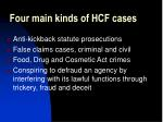 four main kinds of hcf cases