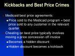 kickbacks and best price crimes