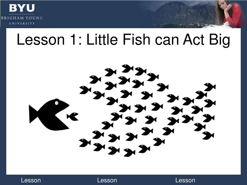 Lesson 1: Little Fish can Act Big