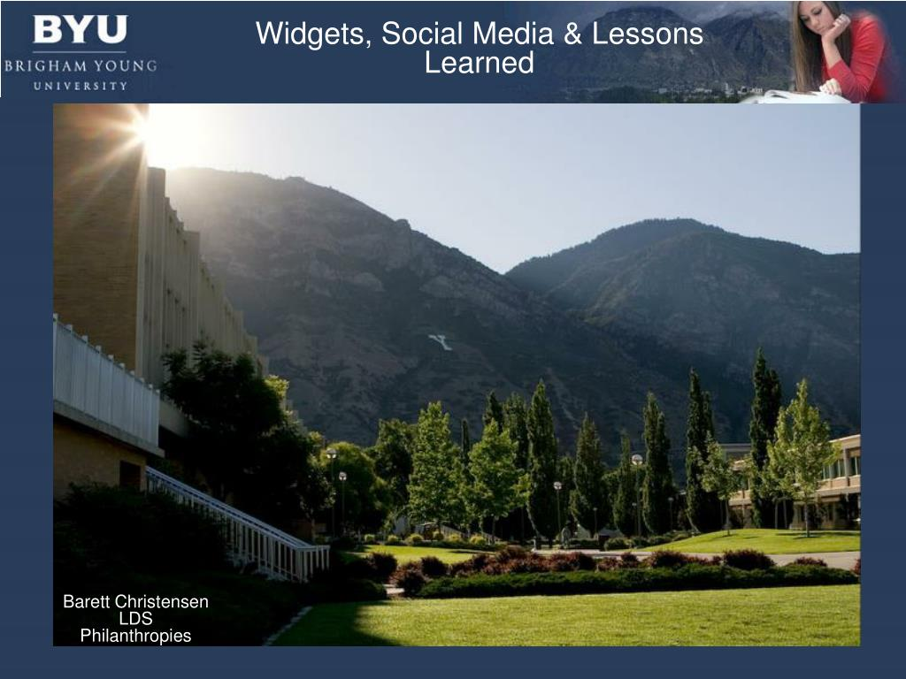 Widgets, Social Media & Lessons Learned