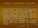 formal informal groups