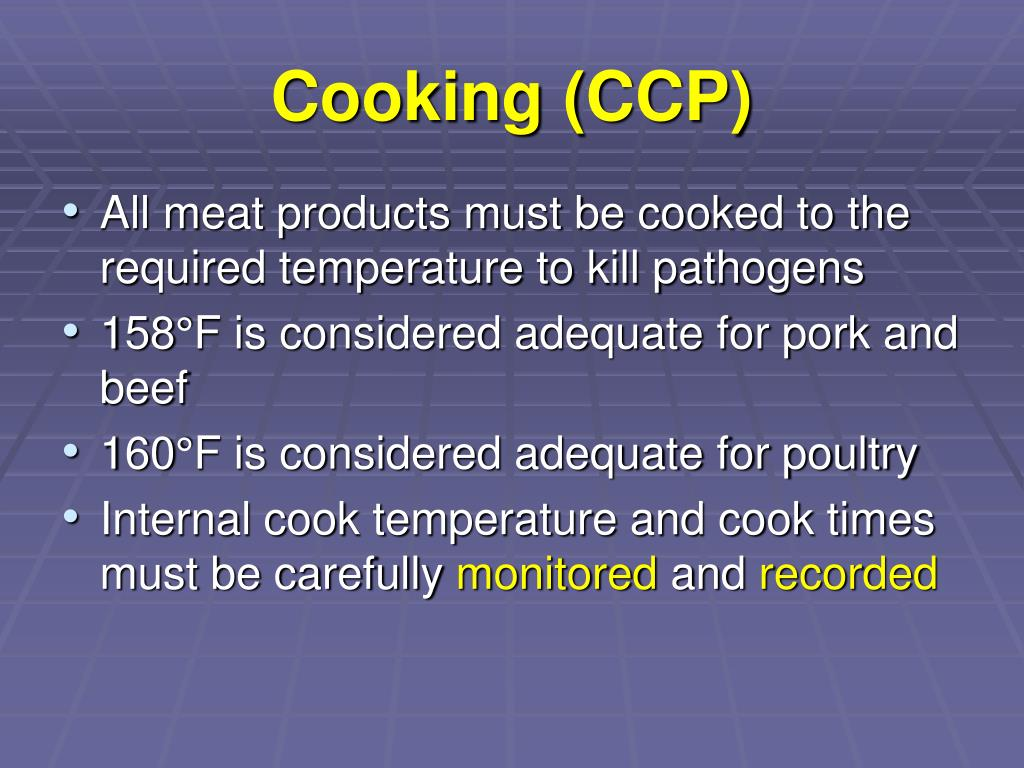 Cooking (CCP)