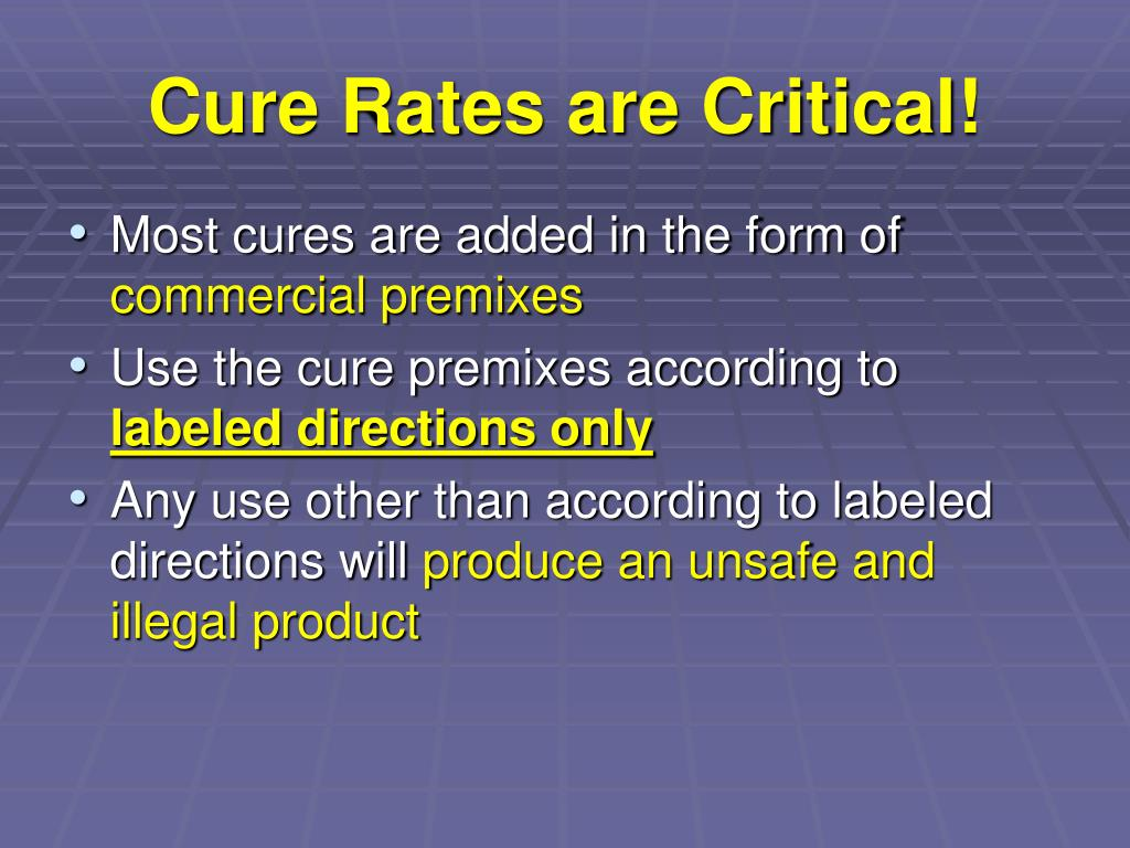 Cure Rates are Critical!