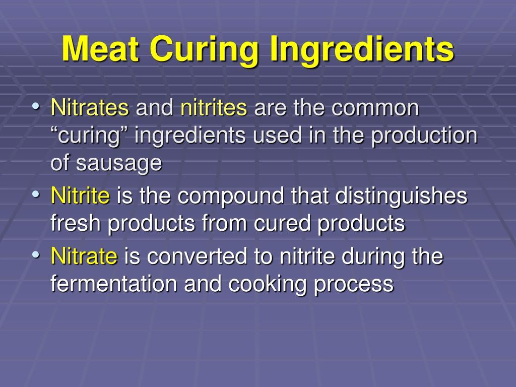 Meat Curing Ingredients