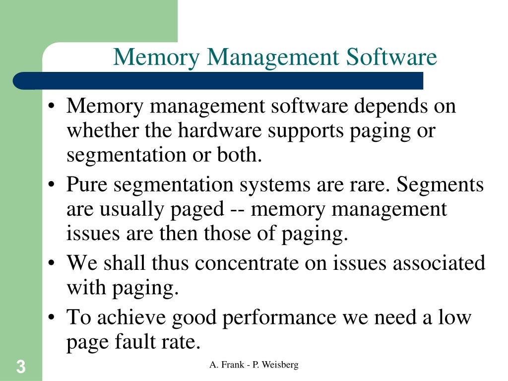 Memory Management Software