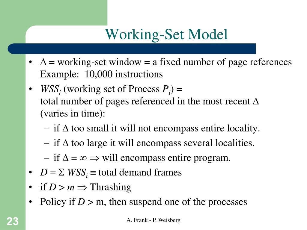 Working-Set Model