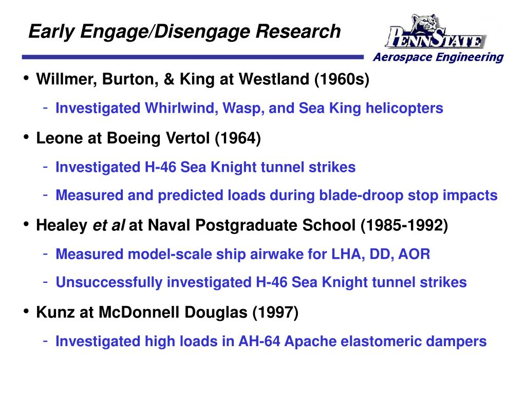 Early Engage/Disengage Research