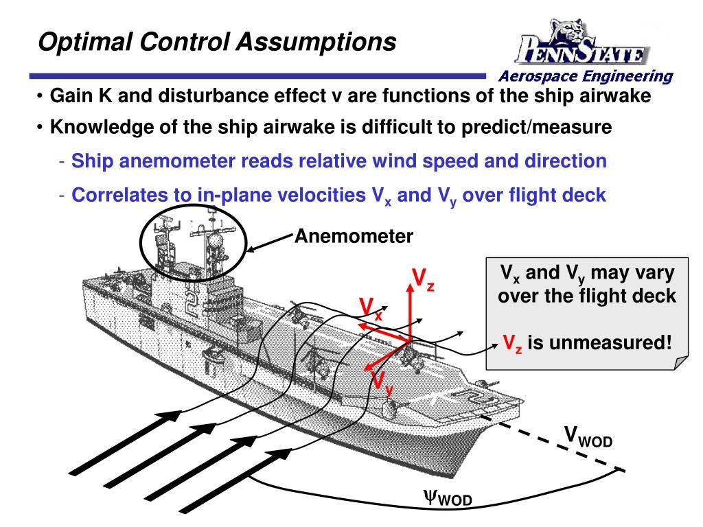 Optimal Control Assumptions