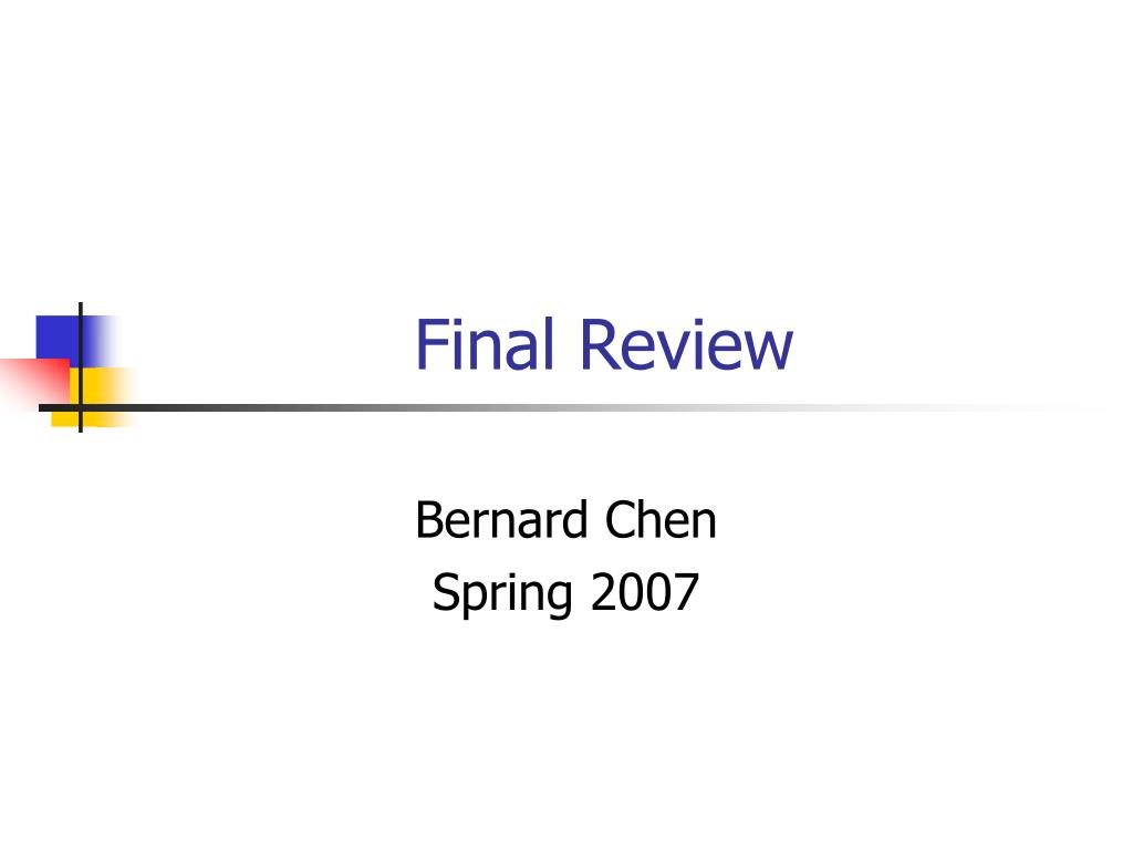 final review l.