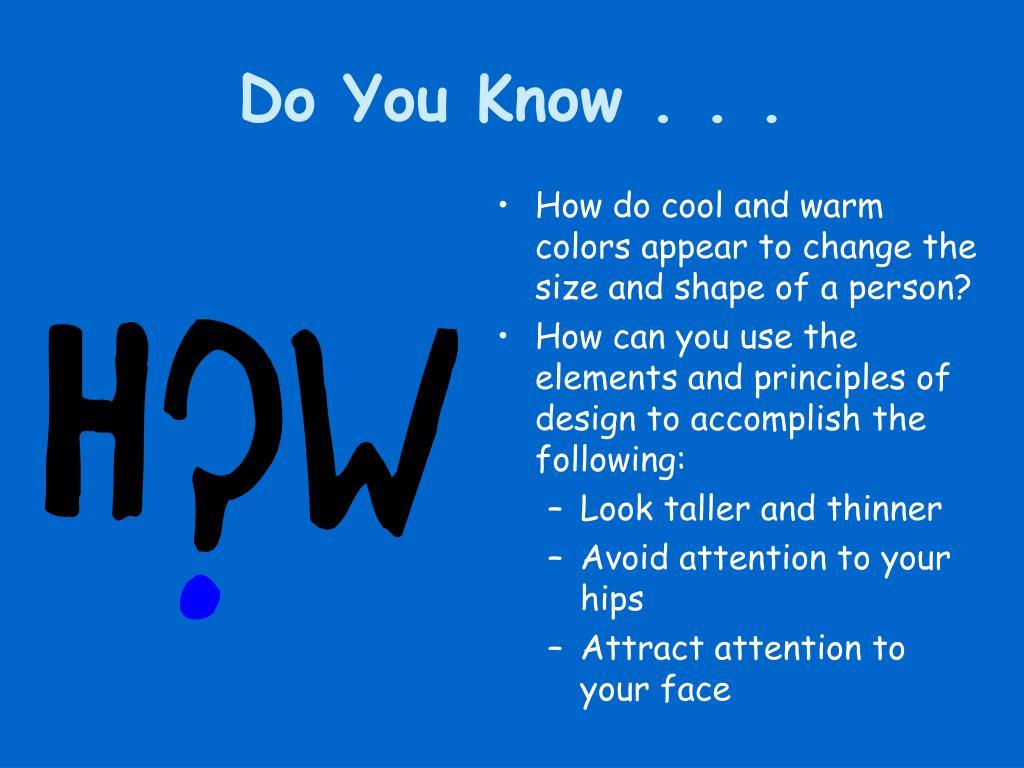 Do You Know . . .