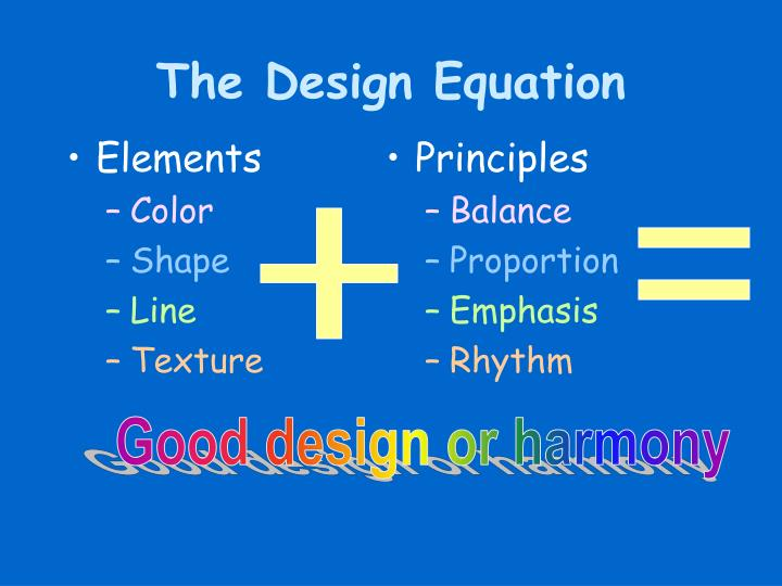 The design equation