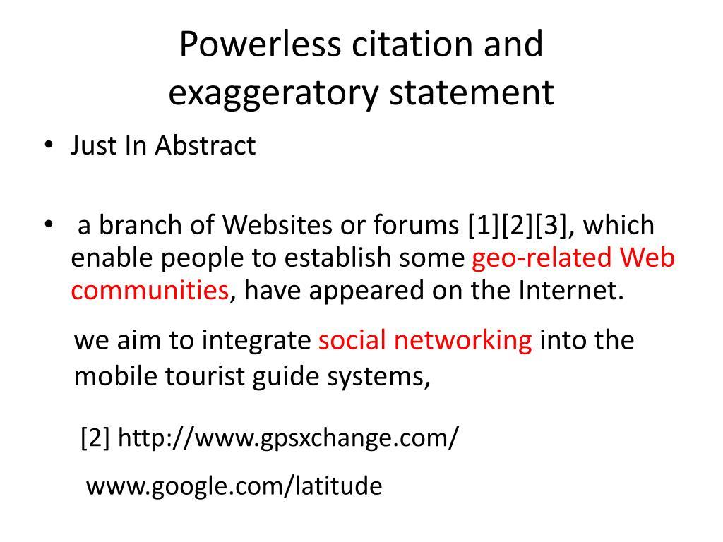 Powerless citation and