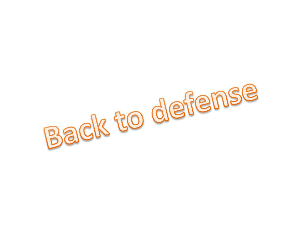 Back to defense