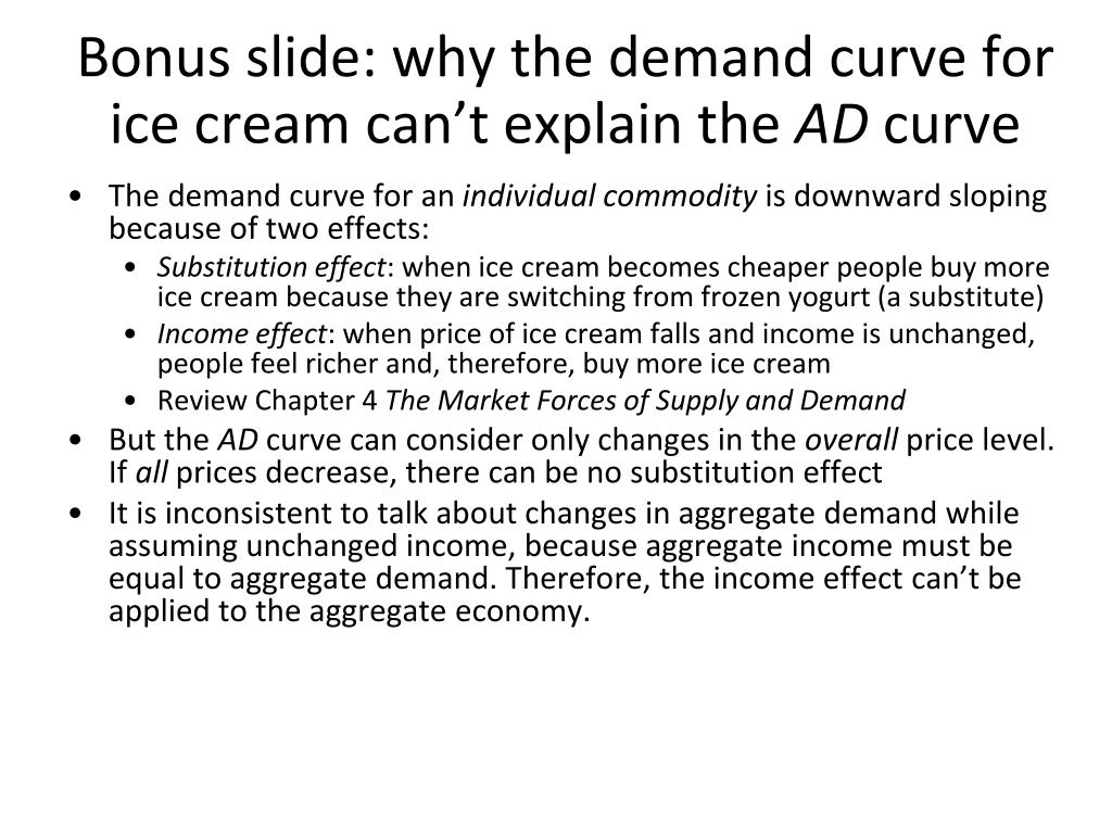 Bonus slide: why the demand curve for ice cream can't explain the