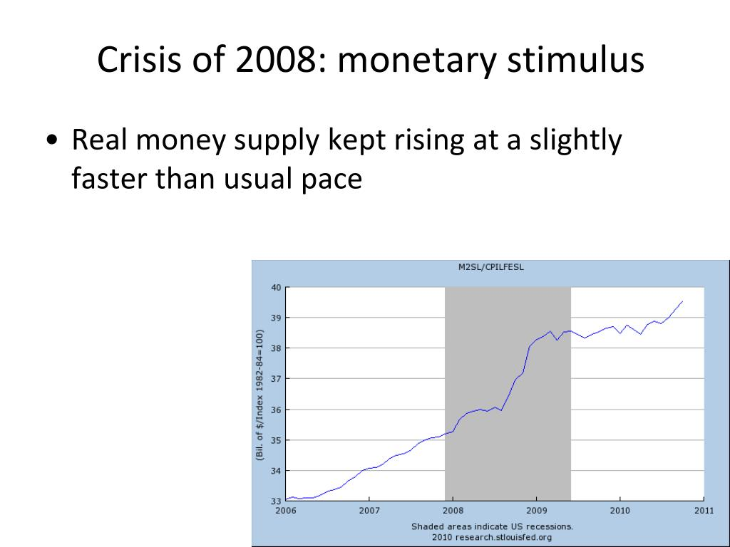 Crisis of 2008: monetary stimulus