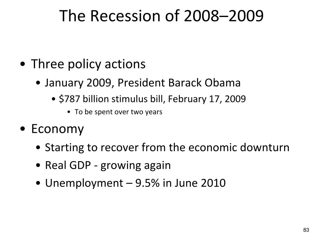 The Recession of 2008–2009