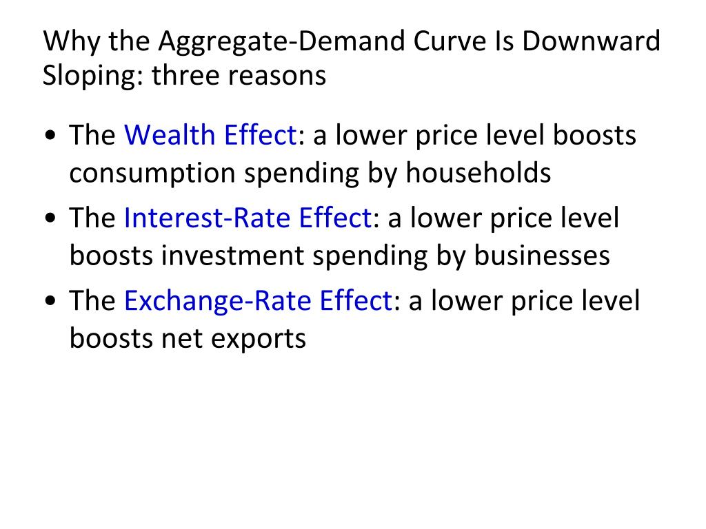 Why the Aggregate-Demand Curve Is Downward Sloping: three reasons