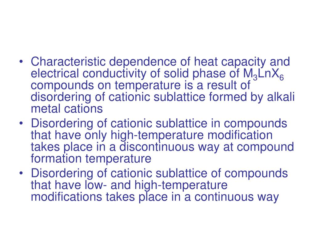 Characteristic dependence of heat capacity and electrical conductivity of solid phase of M