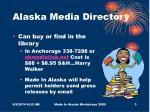 alaska media directory