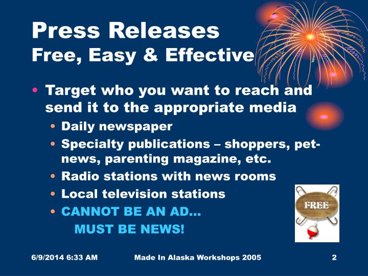 press releases free easy effective n.