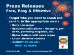 press releases free easy effective