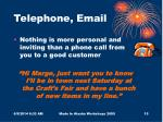 telephone email