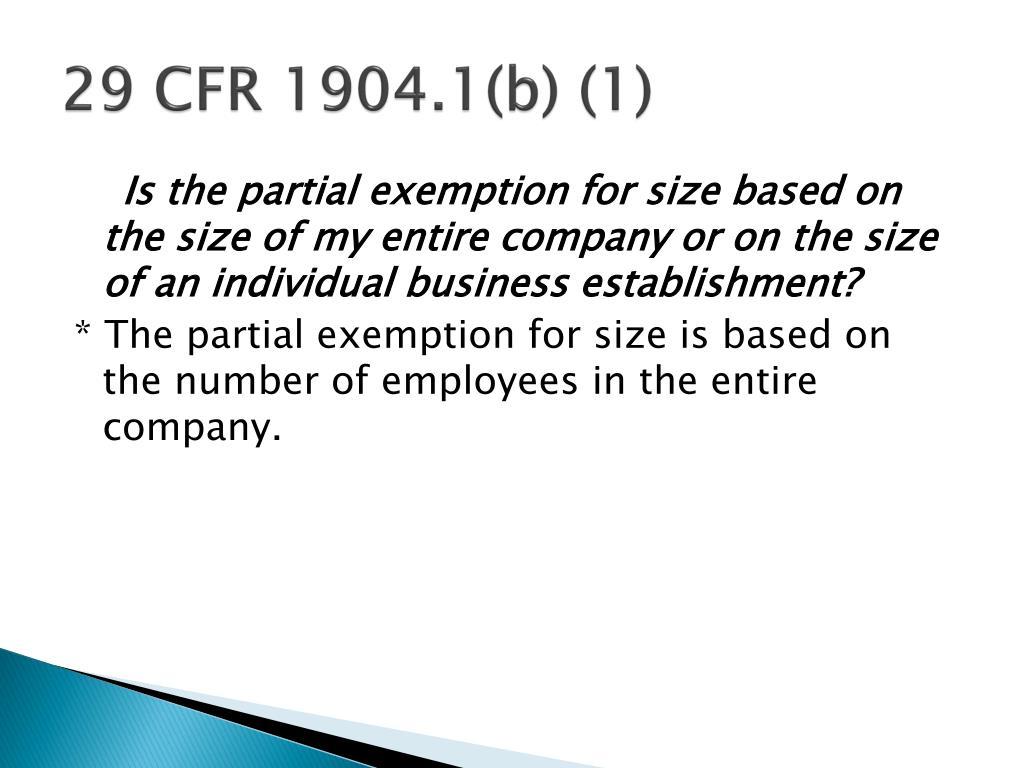 29 CFR 1904.1(b) (1)