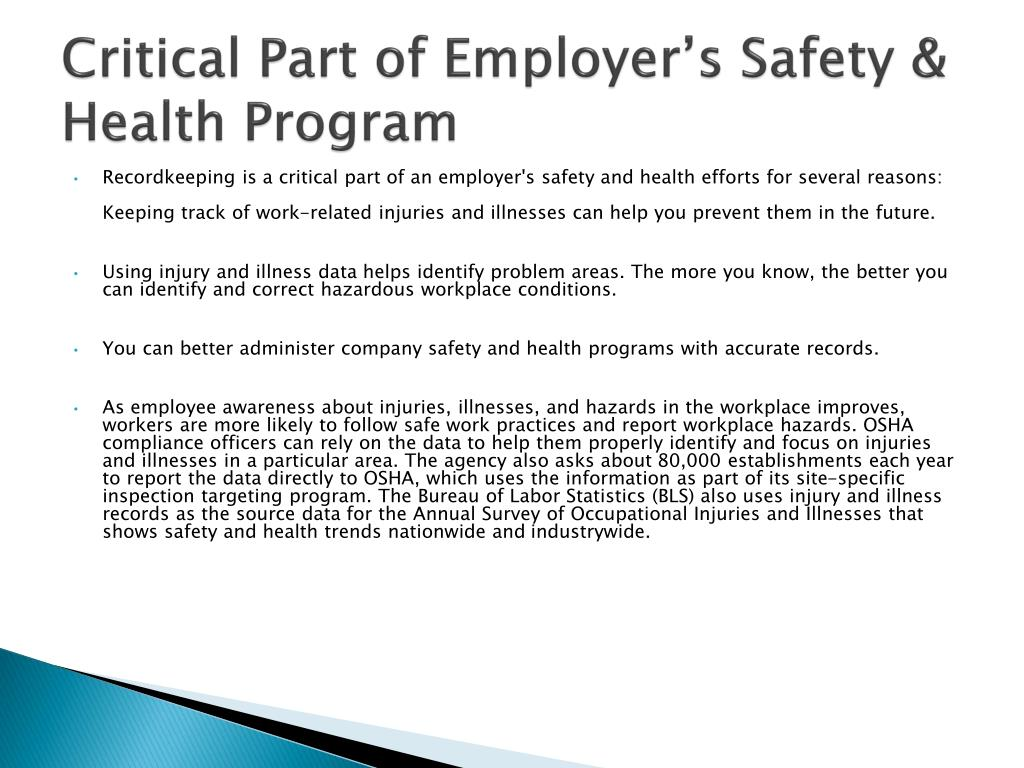 Critical Part of Employer's Safety & Health Program