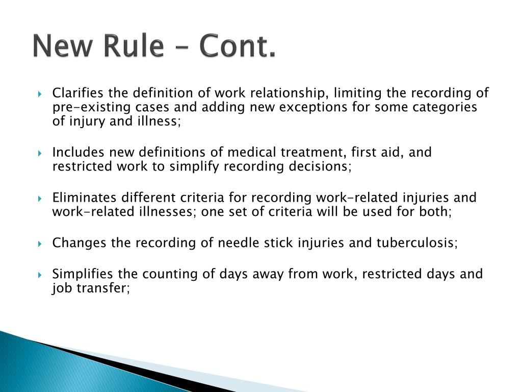 New Rule – Cont.