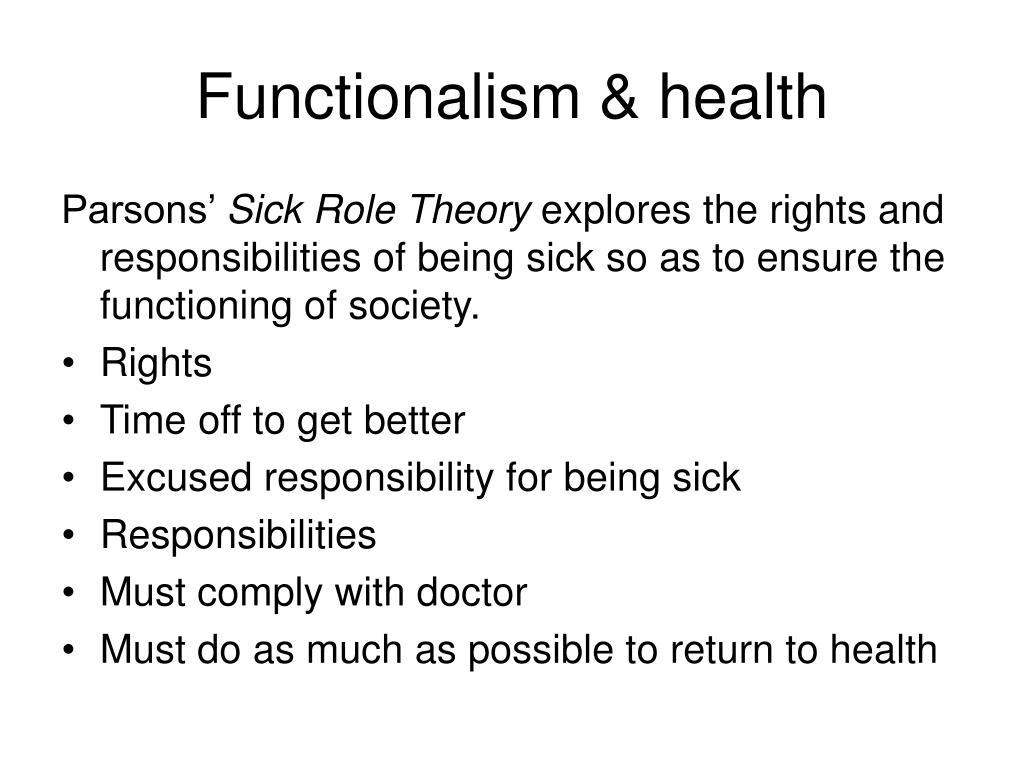 Functionalism & health