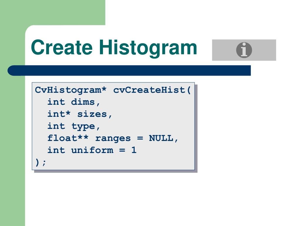 Create Histogram