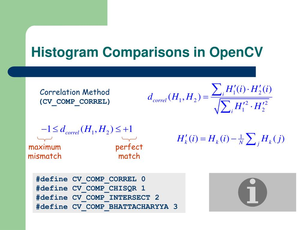 Histogram Comparisons in OpenCV