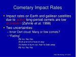 cometary impact rates