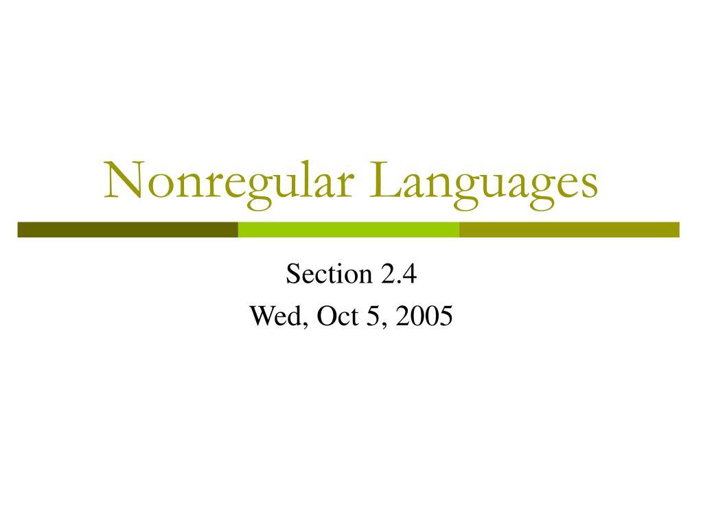 nonregular languages l.