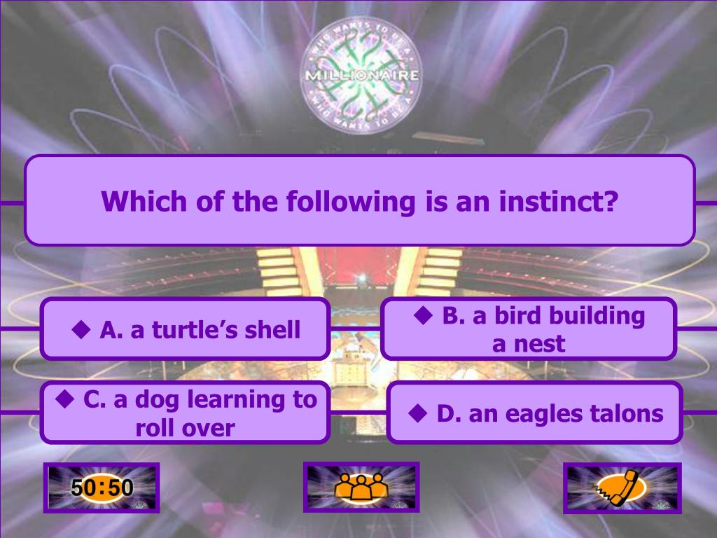 Which of the following is an instinct?
